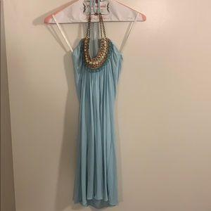 Sky Mini Dress Light Blue